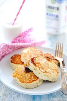 Kefir Yeast Pancakes - extra fluffy from yeast, slightly tangy from kefir. Unique recipe for pancakes. Perfect for a lazy weekend.