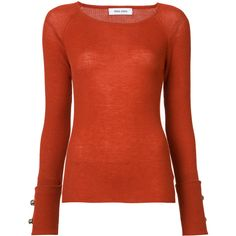 Prabal Gurung cashmere crew neck jumper (30,755 INR) ❤ liked on Polyvore featuring tops, sweaters, red, red jumper, red sweater, crew neck sweaters, crew-neck sweaters and red top