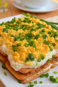 Sałatka rybna na krakersach ŚWIETNA!! (Sałatka jak ciasto)