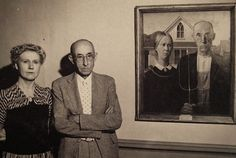 Paintings and their real life subjects   American Gothic