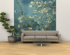 Almond Branches in Bloom San Remy c.1890 Wall Mural  Vincent van Gogh (Almond Blossom)  96 x 96 in.