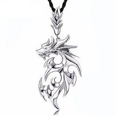Dragon Shape Necklaces & Pendants  Style:  Punk    Necklace Type:  Pendant Necklaces    Shape\pattern:  Animal    Gender:  Men    Metals Type:  Titanium    Material:  Titanium Steel    Length:  45cm  http://www.leonardwatches.it/products/dragon-shape-necklaces-pendants