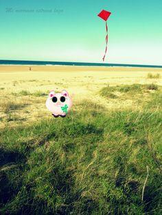 Mmel se da una vuelta por la playa