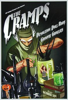 The Cramps Fillmore Poster Tuesday, October 31st 2006