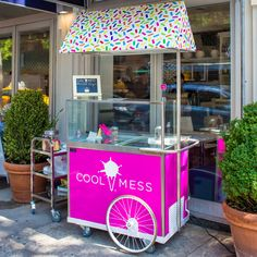 Ice Cream Stand, Ice Cream Cart, Ice Cream Station, Ice Shop, Candy Birthday Cakes, Food Cart Design, Summer Store, Bike Food, Small Coffee Shop