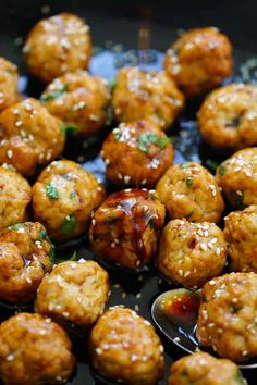 Teriyaki Chicken Meatballs - juicy and moist chicken meatballs with sweet and savory teriyaki sauce. These meatballs are so good you'll want them every day | rasamalaysia.com
