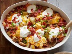 Get Loaded Baked Potato Casserole Recipe from Food Network