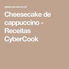 Cheesecake de cappuccino - Receitas CyberCook