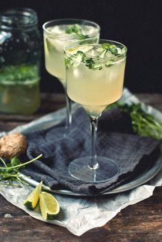 Ginger-Cilantro Margarita - coming soon on The Gouda Life!