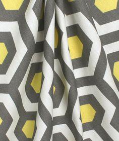 Premier Prints Magna Lemon Macon Fabric