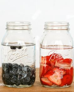 Infused Spirits  - 1 cup berries, 2 cps spirit of your choice, cover jar and let stand for at least 3 days at room temperature.  Remove berries and serve. Combine cherries and rum, blueberries and gin, strawberries and vodka and blueberries and tequila.