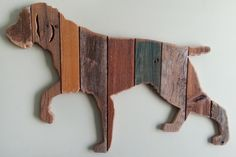 German Wirehaired Pointer (sold - Order yours now) Wooden Pallet Signs, Wooden Pallets, Recycled Pallets, Wood Signs, Wood Dog, Barn Wood, German Wirehaired Pointer, Intarsia Patterns, Pointer Puppies