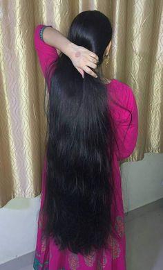 Long Silky Hair, Long Dark Hair, Super Long Hair, Thick Hair, Bun Hairstyles For Long Hair, Braids For Long Hair, Indian Hairstyles, Indian Long Hair Braid, Long Hair Models