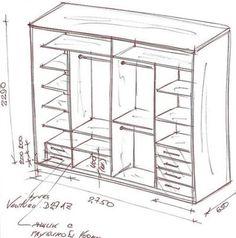 Самодельный чертеж шкафа-купе