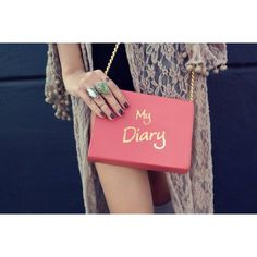 The #SkinnyBags Pink My Diary Crossbody #pink #diary #lace