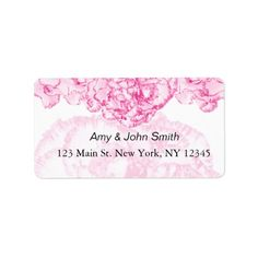Whether you write them by hand or print them at home, check out our selection of Wedding return address labels. Wedding Address Labels, Custom Address Labels, Return Address Labels, Carnation Wedding, Purple Carnations, Personalized Address Labels, Return Address Stickers
