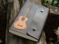 Ukulele Leather Notebook