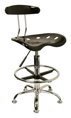 Drafting+Stool+with+Chrome+Foot+Ring+and+Base
