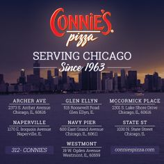 Family owned for over 50 years.  Thank you, Chicago!    #chicago #pizza #authentic #restaurant #recipe   www.conniespizza.com