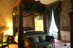 Chatsworth ~ Victorian bedroom decorated by the bachelor Duke of Chatsworth