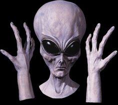 UFO Mask Hands Set Alien Enormous Large 21' Prop Decor Yard Halloween CHEAP $219.99