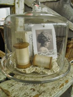 Ideas Sewing Room Vintage Mom For 2019 Vintage Display, Vintage Decor, Glass Domes, Glass Jars, Cloche Decor, The Bell Jar, Bell Jars, Vintage Mom, Vintage Items