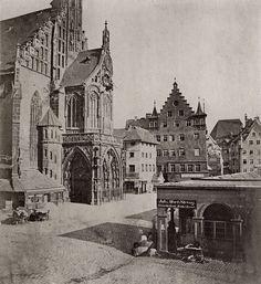 Nürnberg in frühen Fotografien 1850 bis 1880 - Sommerausstellung im Handwerkerhof - Neumarkt4you - Frauenkirche Nürnberg um 1850