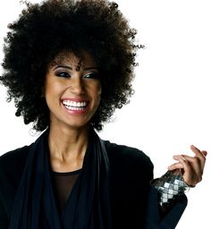 Love this fro! To learn how to grow your hair longer click here - http://blackhair.cc/1jSY2ux