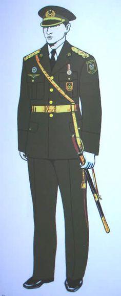 Azerbaijani Army officers' parade dress uniform.