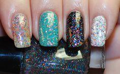 Retro Disco Glitter Nail Polish 15ml 5oz by ModLacquer on Etsy
