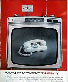 Art,fashion,design,technology etc from the atomic space age Retro Ads, Vintage Ads, Space Age, Vaulting, Telephone, Landline Phone, Old Things, Home Appliances, Electronics
