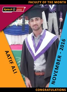 #Faculty of the month - #November 2016 Engr Aatif Ali #searchengineoptimization  #webdesign  #socialmediamarketing  #internetmarketing