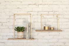 Hang Rack Small Shelf - 45 x 17 x H 30 cm Small / Natural wood & copper by Serax