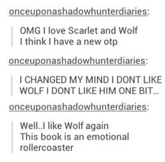 I always liked Wolf but I can understand this struggle on a very deep level.