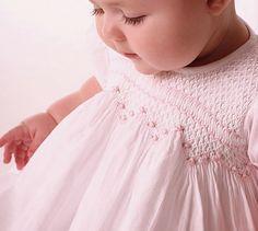 hand smocked baby dress