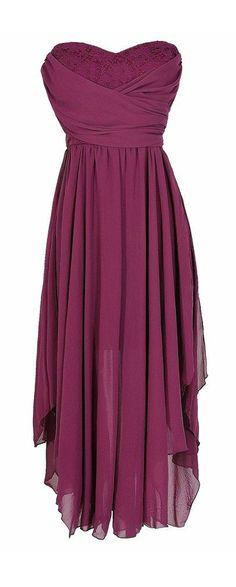Berry maxi dress