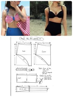 Best 12 Easy Sewing Slipper for Home. Tutorial with a pattern – Page 674906694140416862 – SkillOfKing.Com Underwear Pattern, Lingerie Patterns, Clothing Patterns, Swimsuit Pattern, Bra Pattern, Fashion Sewing, Diy Fashion, Sewing Clothes, Diy Clothes