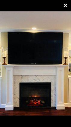 Fireplace Mantel Surround 1012 Paint Grade Ready to paint image 1 Tv Above Fireplace, Fireplace Mantel Surrounds, Small Fireplace, Home Fireplace, Faux Fireplace, Fireplace Remodel, Fireplace Inserts, Living Room With Fireplace, Fireplace Design
