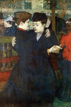 At the Moulin Rouge: Two women waltzing, 1892 - Henri de Toulouse-Lautrec (French, Henri De Toulouse Lautrec, Georges Seurat, Maurice Utrillo, Painting Prints, Art Prints, Art Moderne, Illustrations, Renoir, Rembrandt