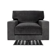 Love the lines on this Tristan Swivel Club Chair - Designed by the renowned Dakota Jackson for Decca Home -