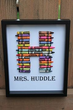 Back to School Teach Gift Idea- Something the teacher can always remember them by not just a store bought gift