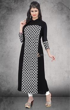 Combination of print and plain closed neck designer kurti for teen girls  #Designer  #Modern #Kurti  #Designer Kurti #Stylish #Colorful #Printed #Digital Printed #Party #Best Collection