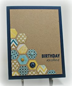 Simply Elegant Paper Crafts: Shop Pumpkin Spice is très chic! Handmade Birthday Cards, Happy Birthday Cards, Greeting Cards Handmade, Hexagon Cards, Hexagon Quilt, Invitation, Pretty Cards, Scrapbook Cards, Scrapbooking