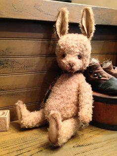 MAGGIE  Mohair Bunny   Artist Bear by VillagePrimitivesbyM on Etsy