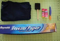 Freezer paper stenciling for t-shirts,  make you own custom designs. Super easy tutorial!
