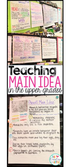 A 5th grade teacher shares her introductory lesson to main idea, topic sentence, and key details.