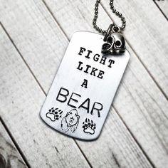 """Fight like a bear"" dog tag necklace // #SicEm"