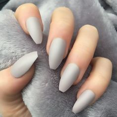 Taupe Matte Coffin – Doobys Nails