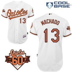 Orioles  13 Manny Machado White Cool Base Stitched MLB Jersey Baseball  Jerseys f5beb52c7