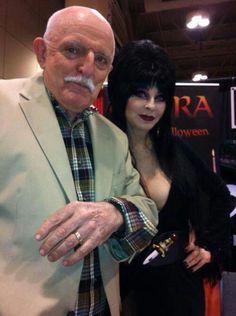 Elvira with John Astin - love these two so much. Gomez forever! <3